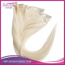 Best selling products snow white clip ins indian remy human hair wholesale full head double weft clip in extensions