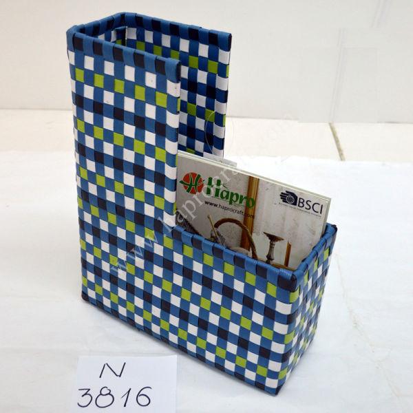Colorful Woven Plastic Storage Baskets / Vietnam Shopping Bag (N 3828)