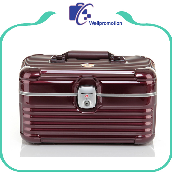 Professional aluminum cosmetic makeup suitcase case