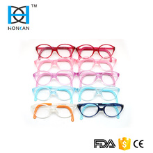 High classic quality TR90 optical glasses flexible temple including elastic strap for kids