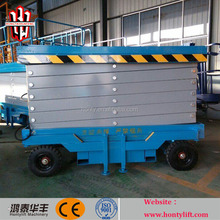 10m 300kg CE electric mobile mini scissor lift Lifting equipment machine manufacturers