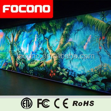 2015 Hot Focono gorgeous video HD 10mm indoor advertising giant led screen display