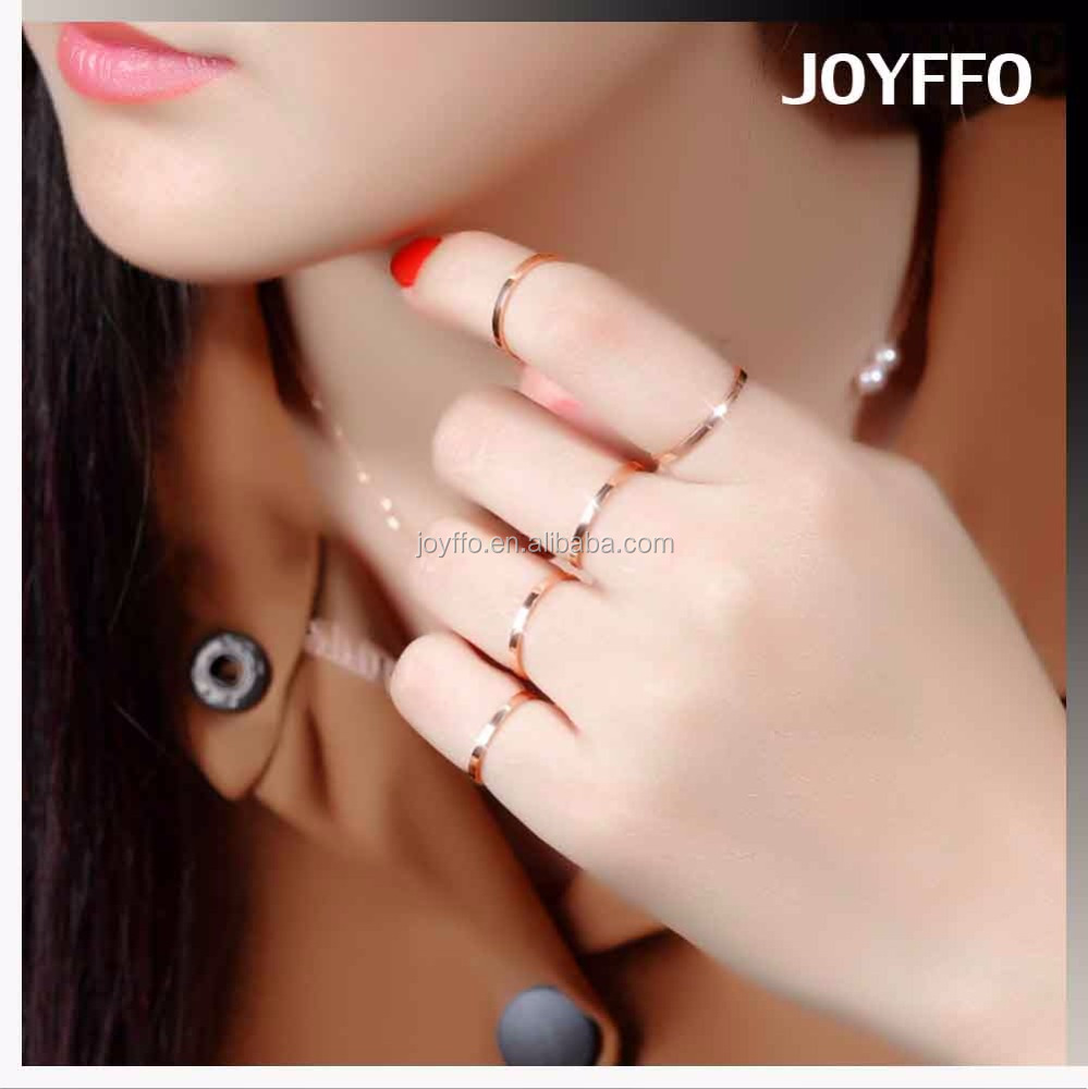 3TY-023 Fashion Jewellery Rings Jewelry Women Thin Rose Gold Ring