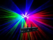 red,purple and green three-head laser effect lights