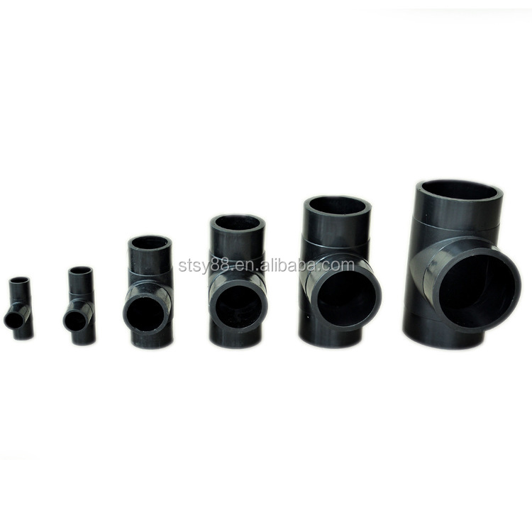 ISO4427 PN16 PN10 PE 100 hdpe pipe fitting fittings