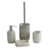 Natural bare or plain concrete simply bathroom accessories for hotel