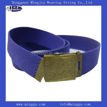 plain new mens webbing web canvas belt