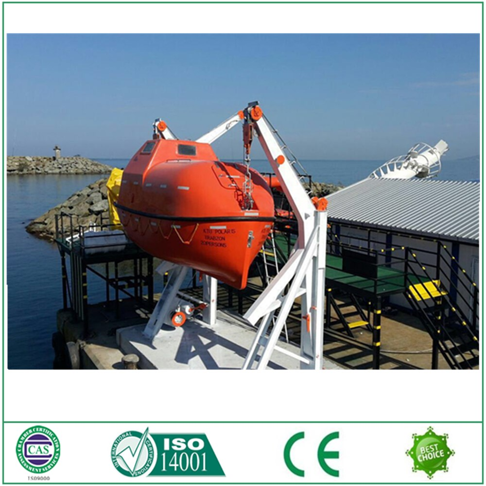 20 person fiber glass enclosed lifeboat for sale