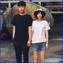 OEM promotional custom key blank t-shirt 100% cotton couple t-shirt in china