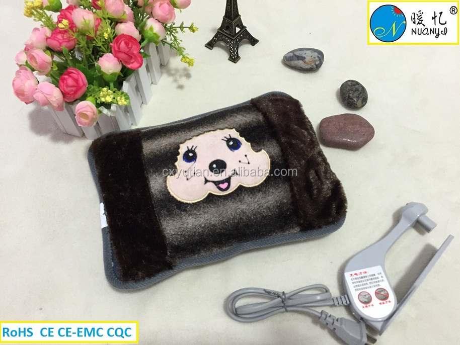 Embroidery rechargeable electric hand warmer Portable electric hot water bag Electric Hot Pack