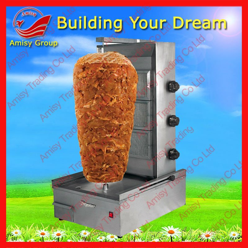 Fast Food Restaurant Equipment/Gas Shawarma Machine for Beef/Lamb/Chicken/Mince
