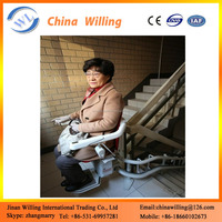 6m cheap home stair lift hydraulic inclined chair lift with good quality