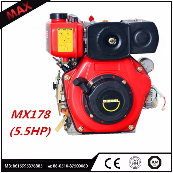 5.5hp single cylinder diesel engine with recoil start