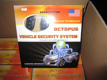 full functions one way octopus car alarm system with auto central lock /unlock