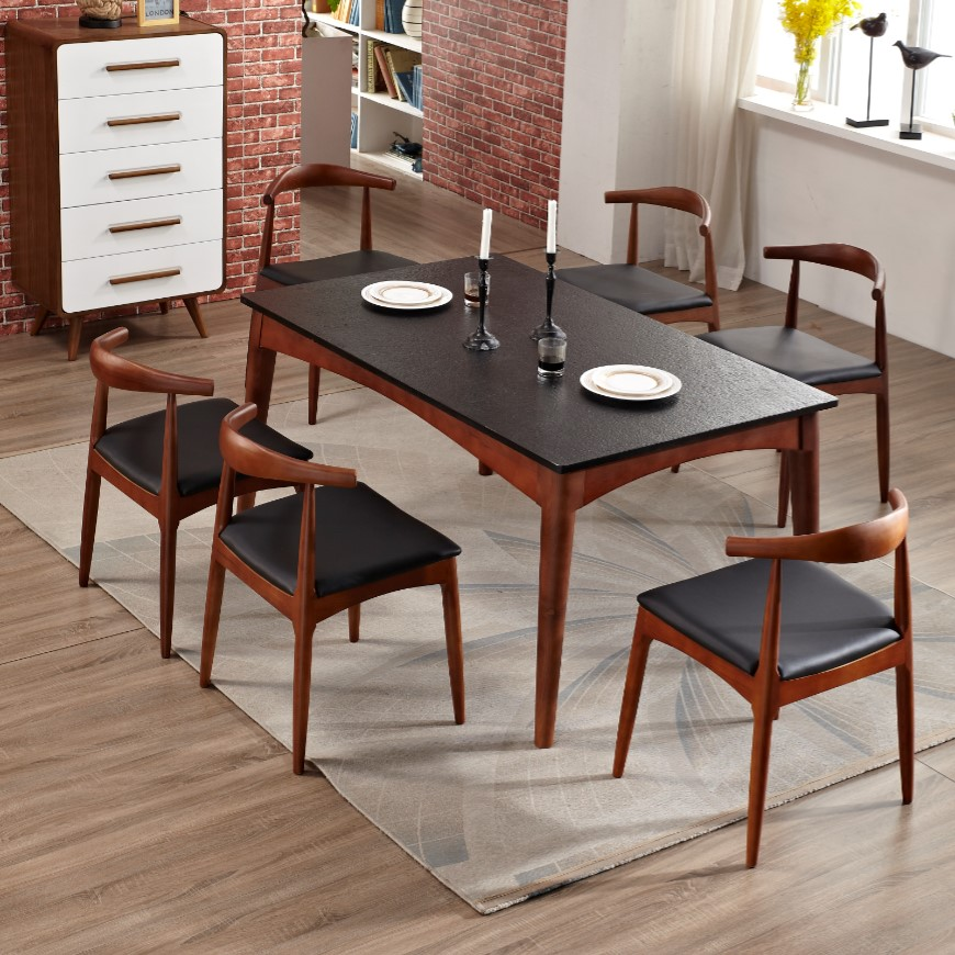 Stone top dining room tables