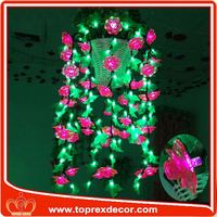 Attractive artificial flower candle rings