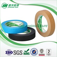Shanghai factory crepe paper coated brown masking tape factory