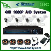 2.0 Megapixels AHD security camera Kit System HD AHD Camera Kit CCTV Camera DVR System 4ch AHD kits taxi dvr system