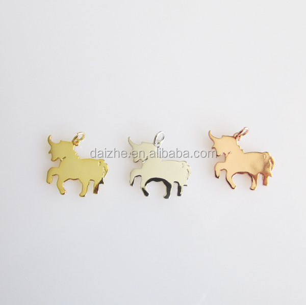 Fashion 925 sterling silver 2015 new arrived cheap factory custom cute animal Unicorn <strong>charm</strong>
