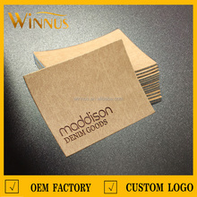 customize thin material PU laser engraver leather label for jeans