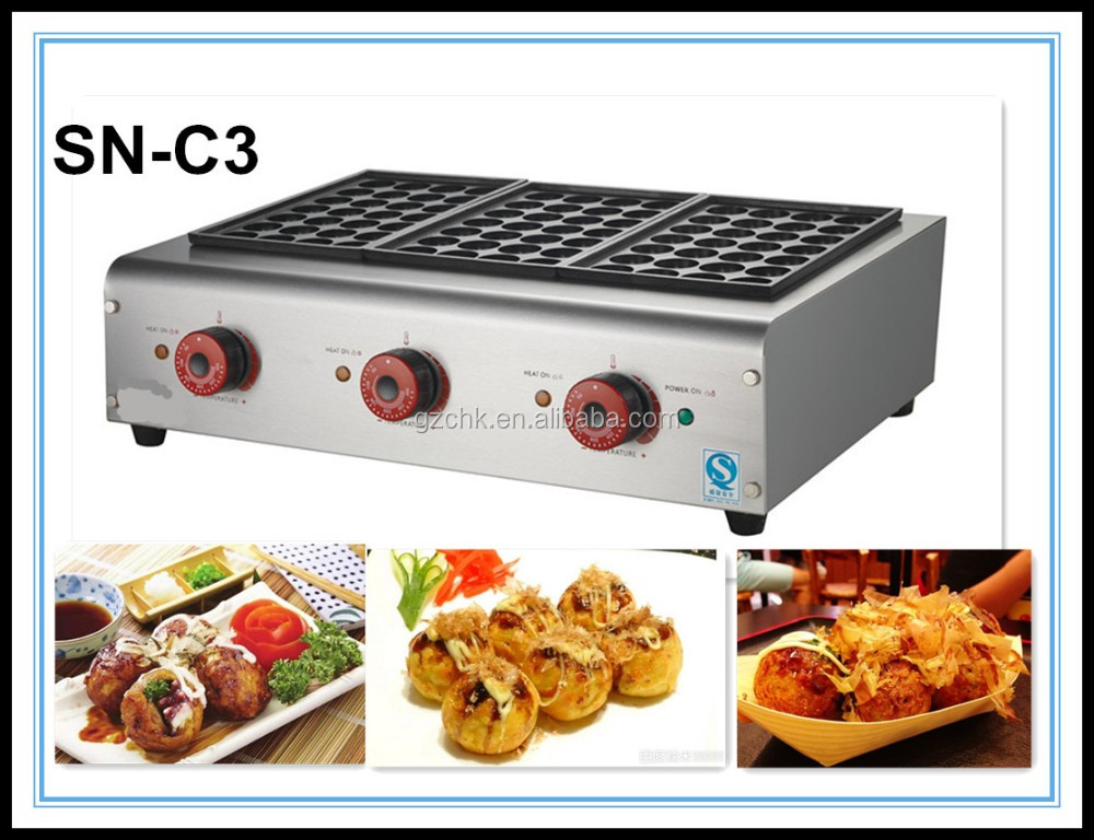 Snack machine takoyaki/ restaurant grill for fish ball/cartering snack grill