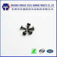 Anti-rust nickel plated M1.3x4 precision black phillips steel tapping screw