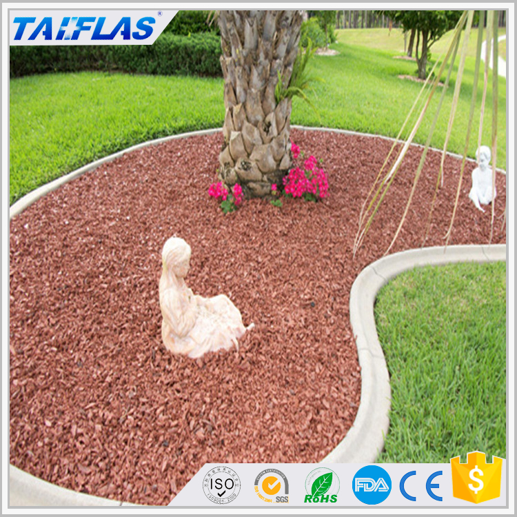 Factory Direct Sales Colored Soft Playground Rubber Mulch/Landscape rubber mulch