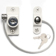 High Quality Zinc security window cable restrictors Child Security locks for window and door