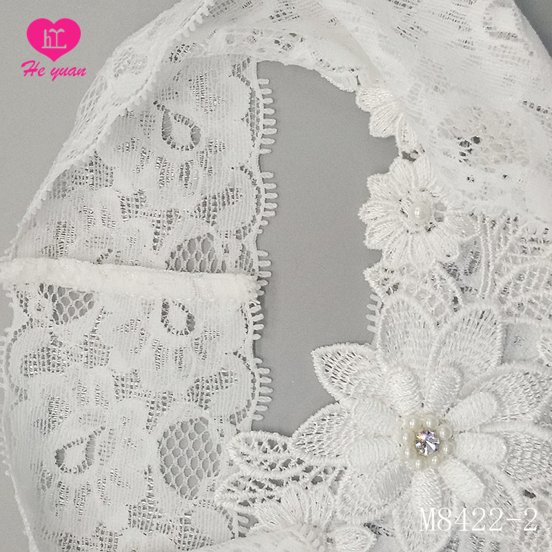 M8422-2Best selling Beautiful Blue Lace and Bow Wedding Bridal Garters Exquisite Elastic