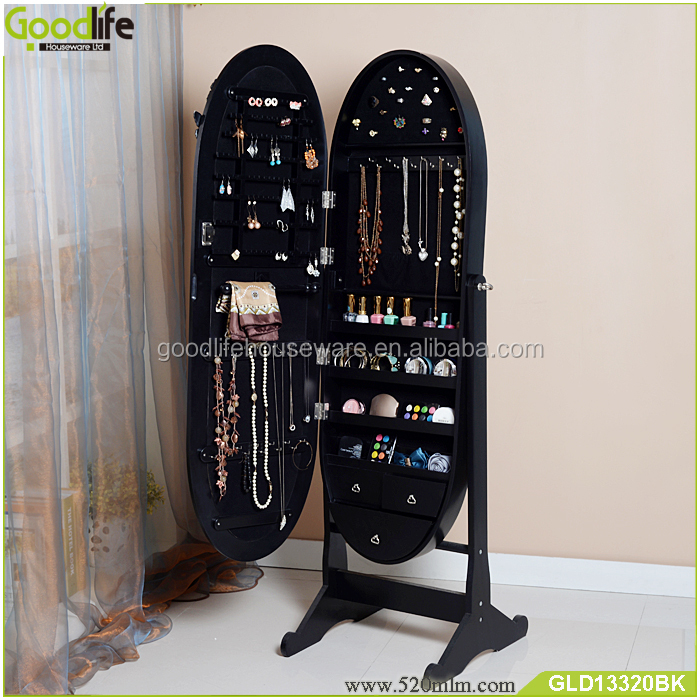 wooden jewelry display furniture with photo frame