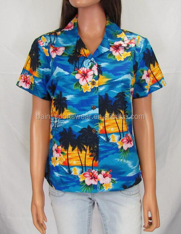 OEM service custom printed hawaiian shirt/cheap hawaiian shirt/custom hawaiian clothing
