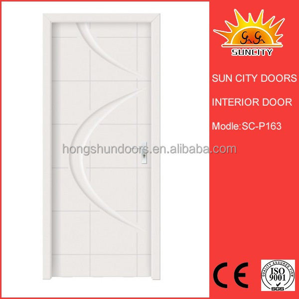 SC-P163 simple designs plain white modern bedroom doors for sale