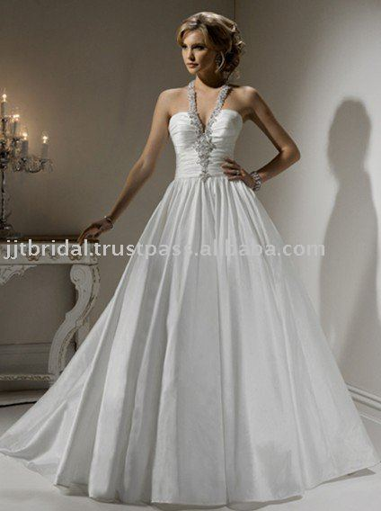 2011 the Most Popular Wedding dress with Ballgown with halter neckline and zipper over MGST022