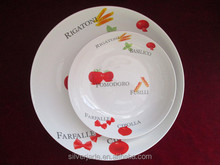 "closeout 11"" and 8"" white ceramic pasta plate sets in stock"