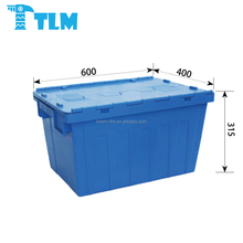 Custom Made Best Selling Recycle Stackable PP Blue Container box for Storage