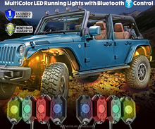 2016 Wholesale 4/6/8/12xPods DC12V IP68 Bluetooth Mini RGB Rock Lights off road RGB Led rock lights For JEEP TRUCK ATV UTV BUGGY