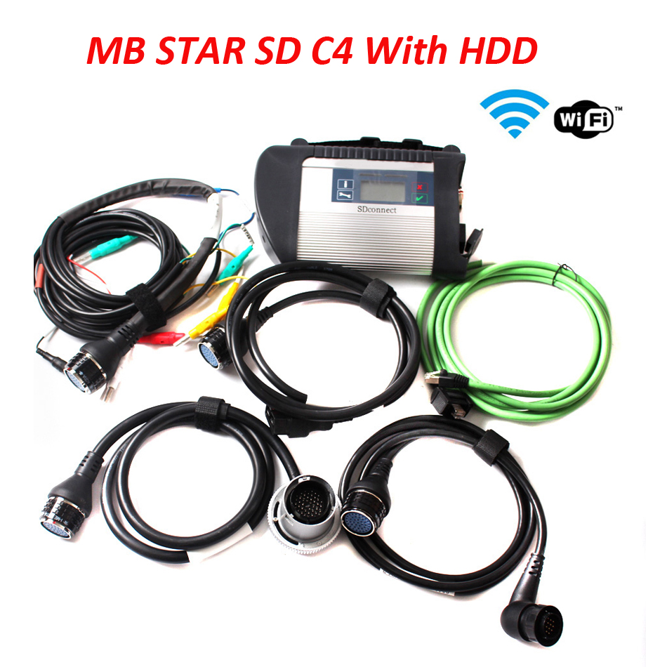 V2017.05 Xentry DAS Best Quality SD Connect MB STAR C4 SD Compact C4 with WIFI Professional Multi-languages MB Diagnostic Tool