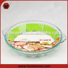 round glass pizza pan fat free frying pan