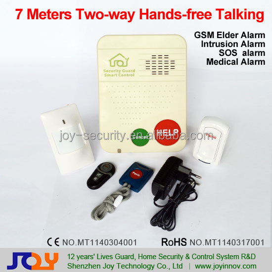 GSM SOS Senior Alert,QuadBand Wireless Intrusion Alarm System