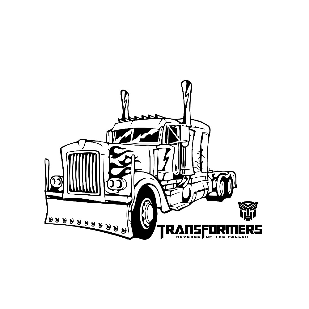 9128 camion stickers muraux transformateurs pour salon - Stickers muraux pour salon ...