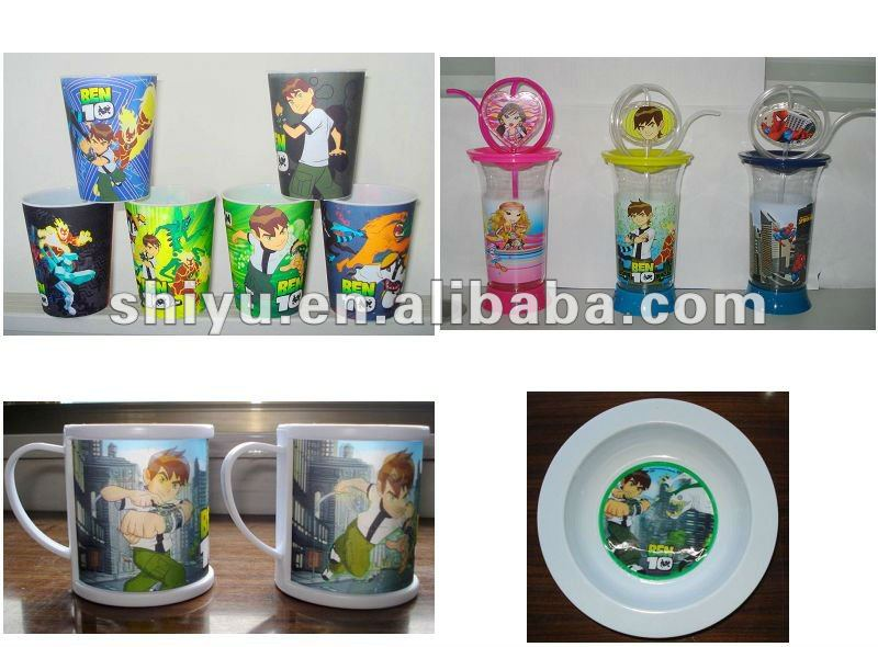 plastic cup and plate ( Ben 10 )