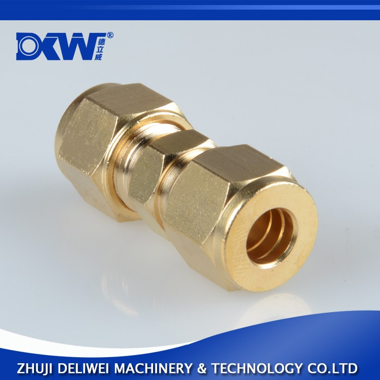 double-ferrule brass 10mm compression tube fitting