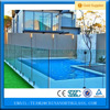 Flat and Curved Tempered Pool Fencing Glass Railing Glass Balustrade