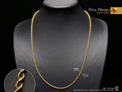 Pure 18K(750) GOLD - String - 3 millimeters Width | 61 centimeters Length - Gold Necklace