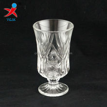 EMBOSSED PICTURE FRAME GLASS WINE GOBLET CUP
