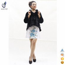 New fashion Korean women coat swallow-tailed real fur natural mink jacket