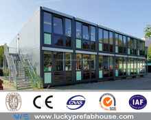 prefabricated modular container house hotel