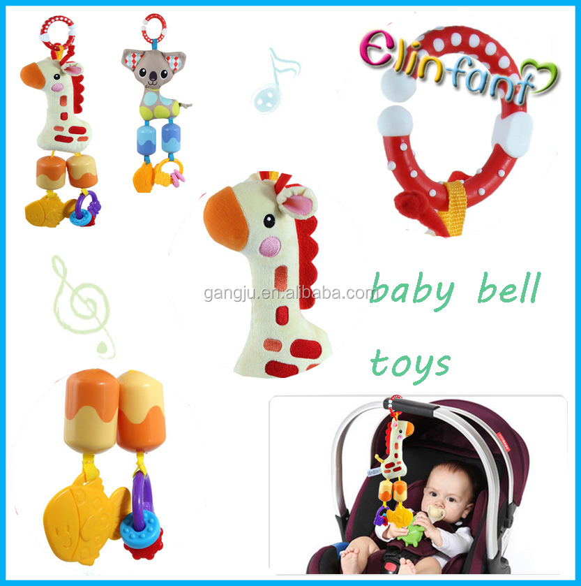 Animal baby crib hang bed toys baby bed bell toys music hang toys for kids