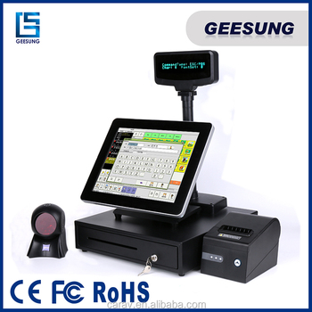 China facotry high quality pos terminal 15inch fanless