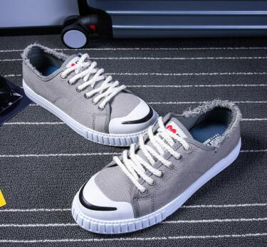 Street culture, wholesale white casual canvas shoes